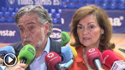 Pepu Hernández y Carmen Calvo.
