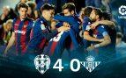 Levante – Betis: resumen, resultado y goles (4-0)