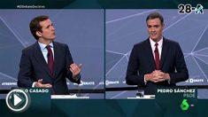 Sánchez durante el debate.