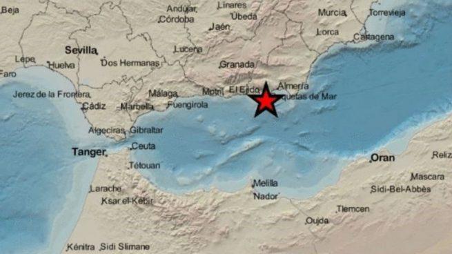 Registran un terremoto de magnitud 3,2 con epicentro en La Mojonera (Almería)