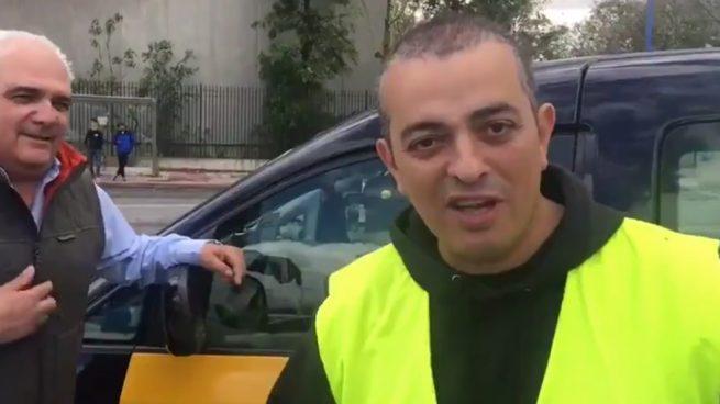 El líder taxista Tito: «Pido a los taxistas que voten a Podemos. ¿Qué importa si Pablo tiene una casa?»
