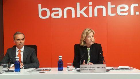 Dolores Dancausa y Jacobo Díaz (Bankinter) Foto: Mario Moratalla
