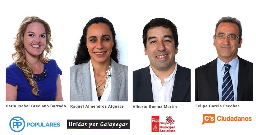 Candidatos a alcalde de Galapagar con representación en el Consistorio.