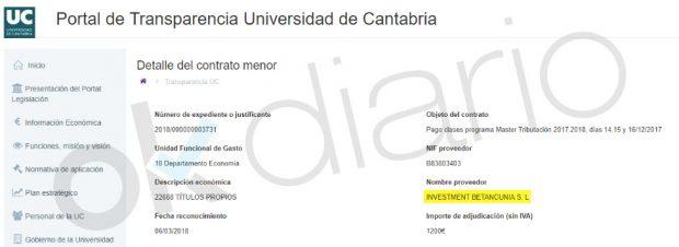 Marco Sanjuán factura su sueldo como profesor a través de su patrimonial para eludir impuestos