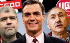Sánchez adelanta las subvenciones a los sindicatos y les riega con 9 millones a tres días del 28-A