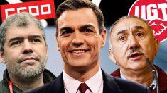 Pedro Sánchez adelanta las subvenciones a los sindicatos