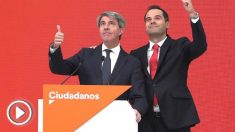 Ángel Garrido, con el candidato de Ciudadanos a la Comunidad de Madrid, Ignacio Aguado.