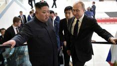 Kim Jong Un y Vladimir Putin. Foto: AFP