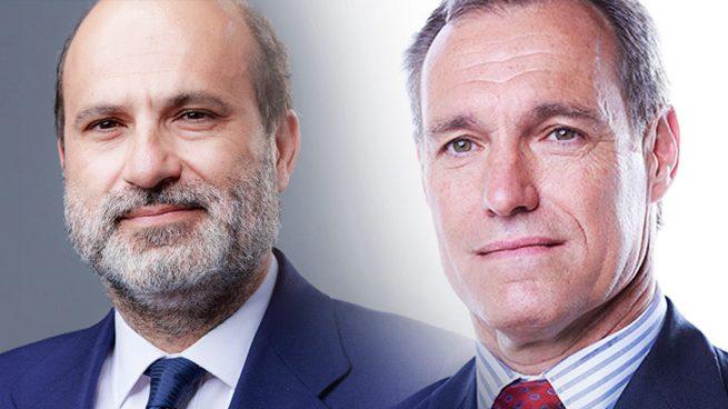 El CEO de Atresmedia, Silvio González, y el director general, Javier Bardají.
