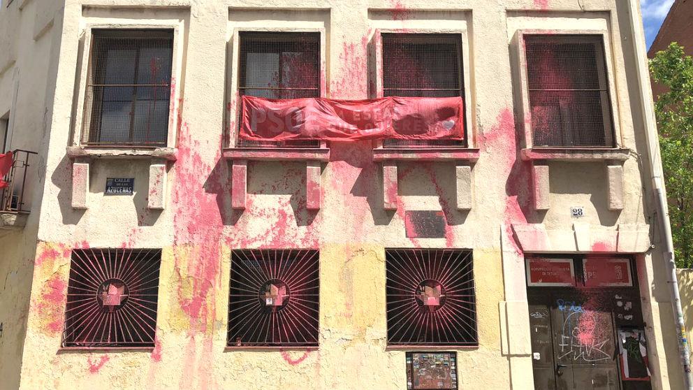 Los ataques a la sede del PSOE en el distrito madrileño de Tetuán