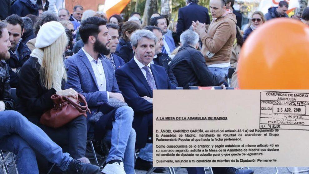 Ángel Garrido en uno de sus primeros actos electorales con Ciudadanos. (Foto. Europa Press)