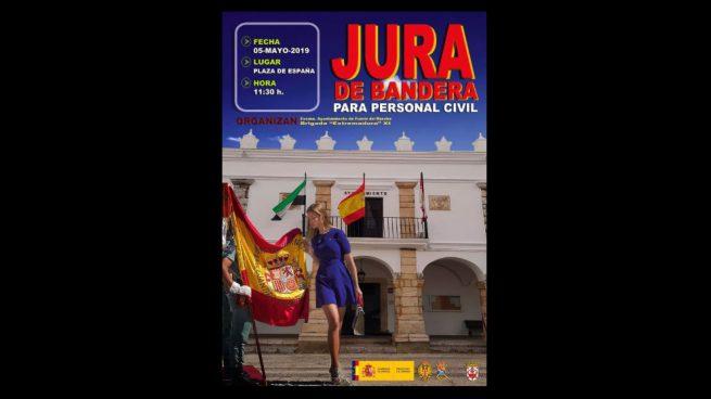 Piden a un pueblo de Badajoz que retire un cartel con una mujer en minifalda «por sexista»