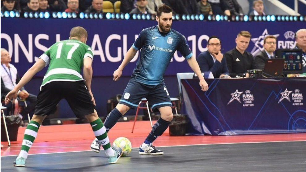Movistar Inter, en las semifinales de la Futsal Champions League. (Europa Press)