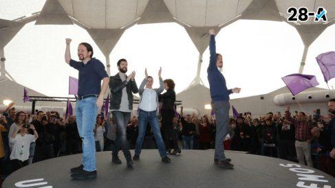 Pablo Iglesias este viernes en León