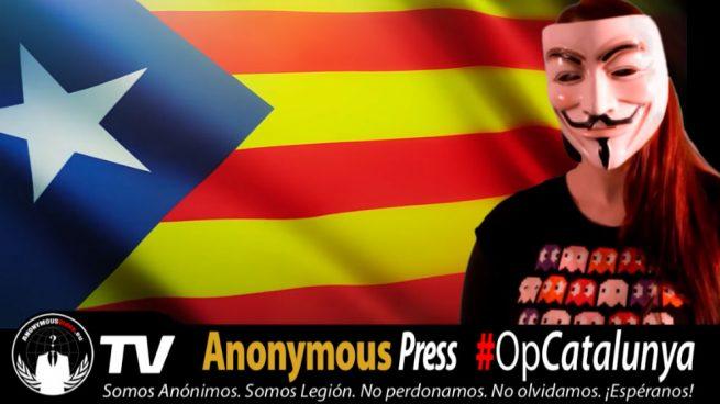 Anonymous hackeó la web del Constitucional para apoyar la independencia de Cataluña