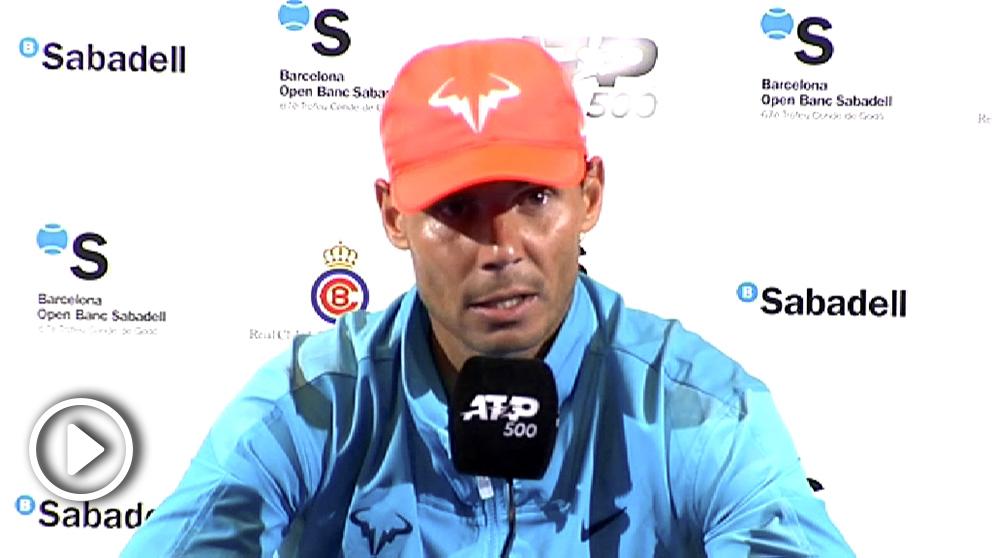 Rafael Nadal, en rueda de prensa.