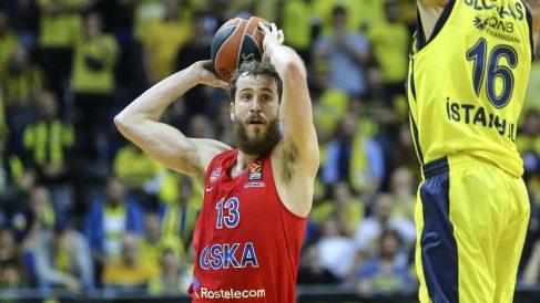 Sergio Rodríguez en un partido con el CSKA. (Getty)