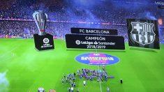 Imagen de la retransmisión de LaLigaTV.