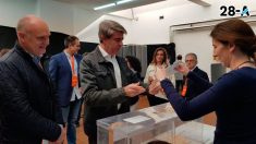 Ángel Garrido vota a Ciudadanos tras su marcha del PP. Foto: Twitter