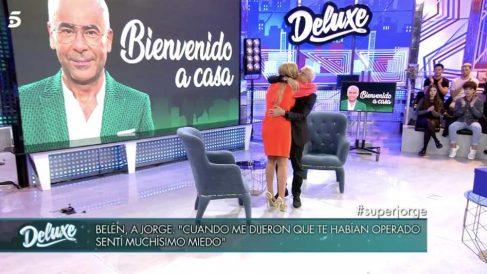 Jorge Javier. y Belén en 'Sábado Deluxe'