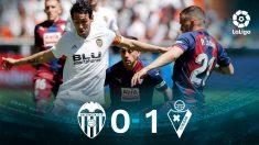Valencia – Eibar: resultado y resumen.