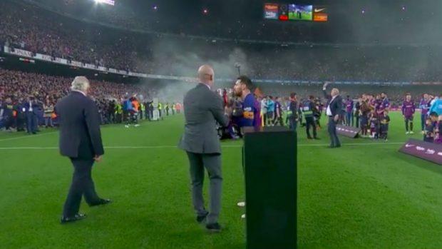 La dictadura de Tebas censura la imagen de Rubiales dando la Liga a Messi