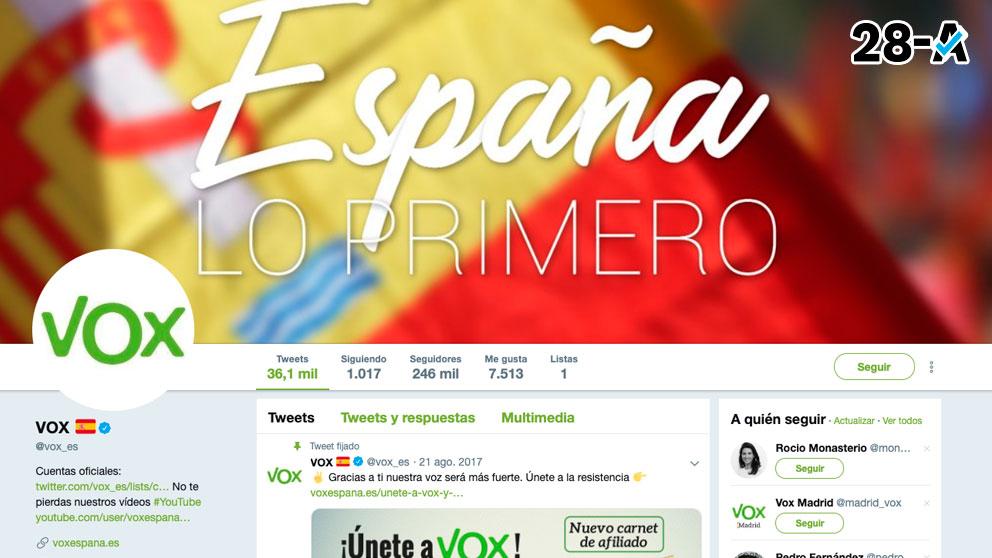 Cuenta oficial de Vox en Twitter.