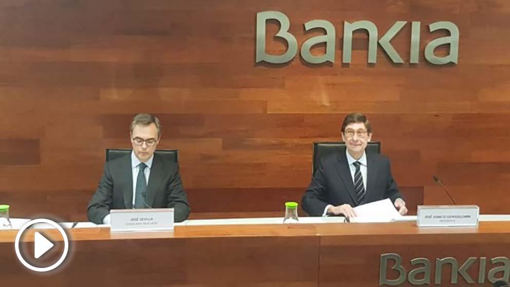 José Sevilla y José Ignacio Goirigolzarri, CEO y Presidente de Bankia.
