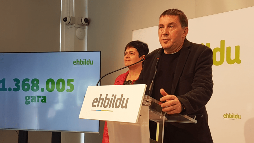 Arnaldo Otegi, líder de Bildu. Foto. Twitter.