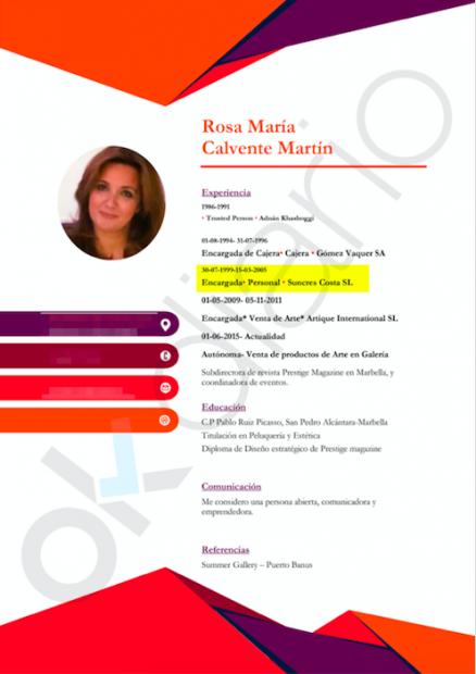 La candidata de Vox en Marbella fue