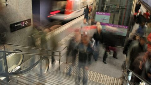 Trabajadores de Metro de Barcelona hacen huelga por los afectados por el amianto. Foto: Europa Press