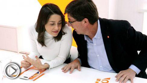 Inés Arrimadas y Juan Marín. (Foto: Enrique Falcón)