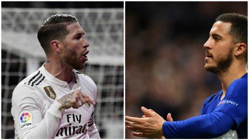 Ramos ya sigue a Hazard en Instagram. (AFP y Getty)