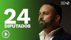 Vox ha conseguido 24 escaños en las elecciones del 28-A