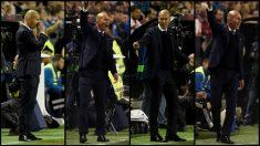 Zidane, desesperado en varias imágenes en Vallecas. (Getty)