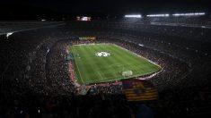 Así lucía el Camp Nou durante el partido ante el Manchester United. (Getty)