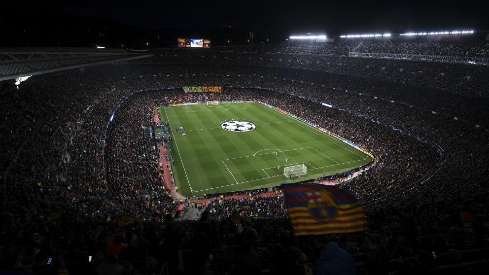 El Camp Nou durante un partido del Barcelona. (Getty)