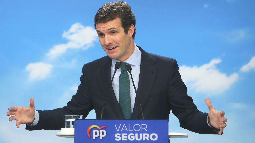 El presidente del Partido Popular, Pablo Casado (Foto: Europa Press)