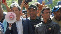 Juan Guaidó y Leopoldo López en Caracas. Foto. Getty
