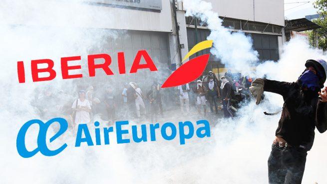 Iberia y Air Europa cancelan los vuelos de este miércoles entre Madrid y Caracas por la crisis en Venezuela