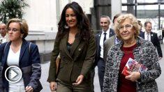 Puri Causapié (PSOE), Begoña Villacís (Ciudadanos) y Manuela Carmena (Ahora Madrid). (Foto. Madrid)