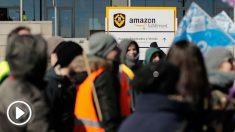 Huelga de trabajadores de Amazon (Foto: Getty)