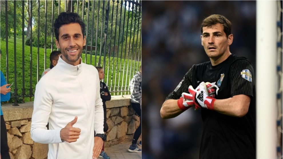 Arbeloa y Casillas.