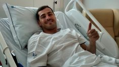 Iker Casillas, en el hospital.