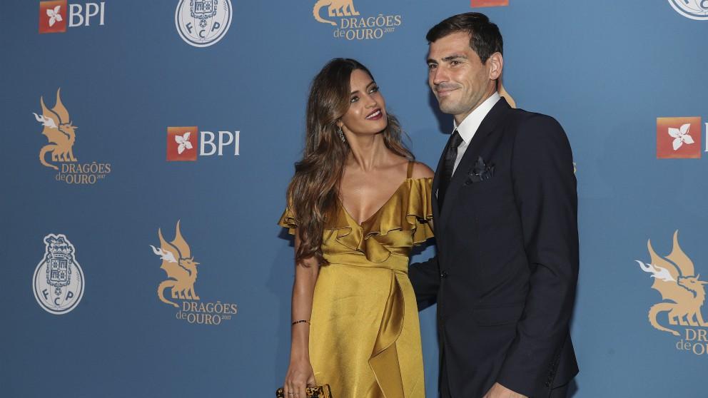 Iker Casillas y Sara Carbonero, en una gala. (Getty)