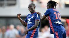 Mendy celebra un gol con el Lyon. (AFP)