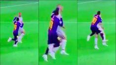 El momento en el que Messi lanza un puñetazo a Fabinho.