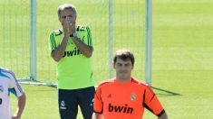 Mourinho y Casillas, en un entrenamiento del Real Madrid. (Getty)