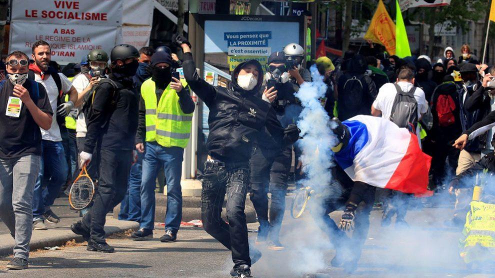 Protestas en París. Foto: AFP