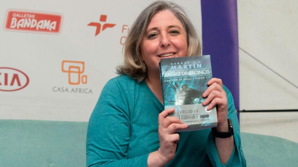 La traductora al español de la saga Juego de Tronos, Cristina Macía. Foto: Europa Press